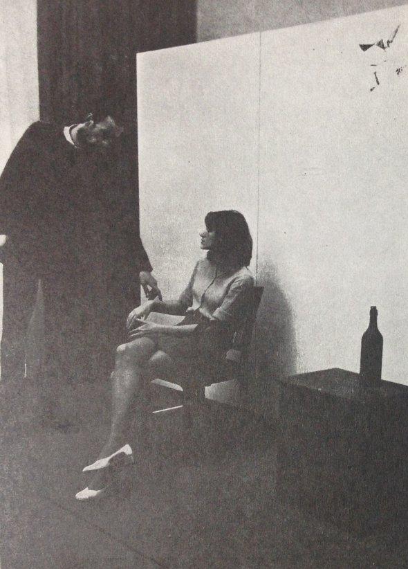 00_Dragnularijum_Rasa Todosijevic, Marinela, blue night table [..], SKC, Belgrade, 1972