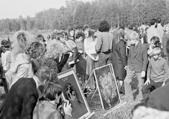 Second Fall Outdoor Exhibition of Paintings, Izmailovsky Park, Moscow, 29 September 1974