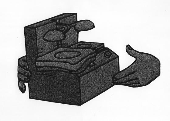 Jelenet a Tintin és a Cápák tava című képregényből, 1972