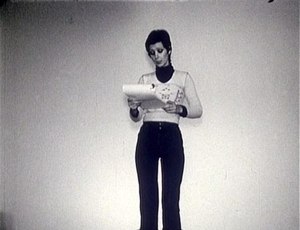 Oktobar 75: Cinema Notes by Lutz Becker, movie still, portrait of Dunja Blažević.